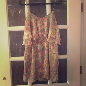 Layered paisley mini dress
